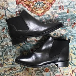 Topshop   Black Ankle Booties Size 6.5